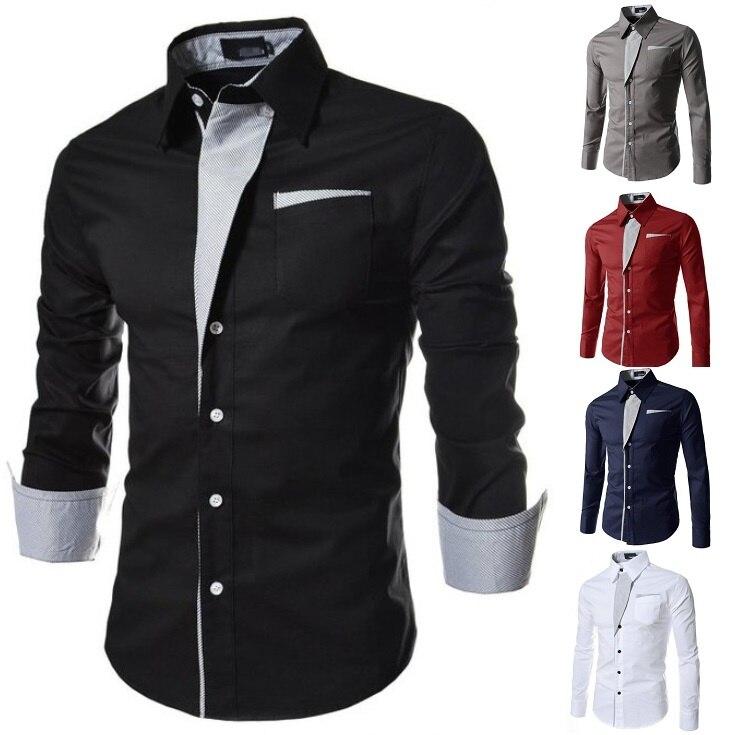 ZOGAA new mens shirt stripes long sleeve slim