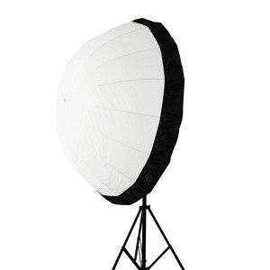 Image 2 - Prêt Stock 105cm 41 pouces Flash Speedlite diffuseur Softbox réflecteur parabolique parapluie noir couverture tissu