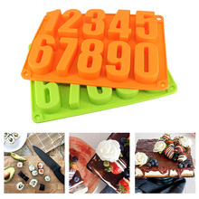 3D DIY Fondant Cake Moulds 0-9 Numbers Shape Baking Mold Silicone Chocolate Cupcake Pastry Molds Baking Supplies Decorating Tool