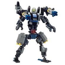 WMX 8712 299 pcs Transformer Série Dinosaul Modèle Blocs de Construction Jouets Robot 2 En 1 Loup DIY Jouet Éducatif Compatible Avec Lege