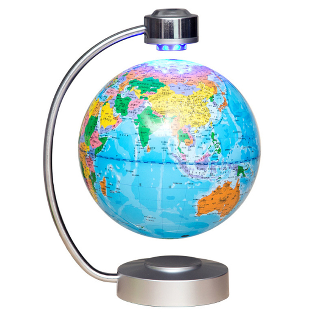 Creative decoration led light 8 inch electronic magnetic creative decoration led light 8 inch electronic magnetic levitation floating globe world map best gift for gumiabroncs Gallery