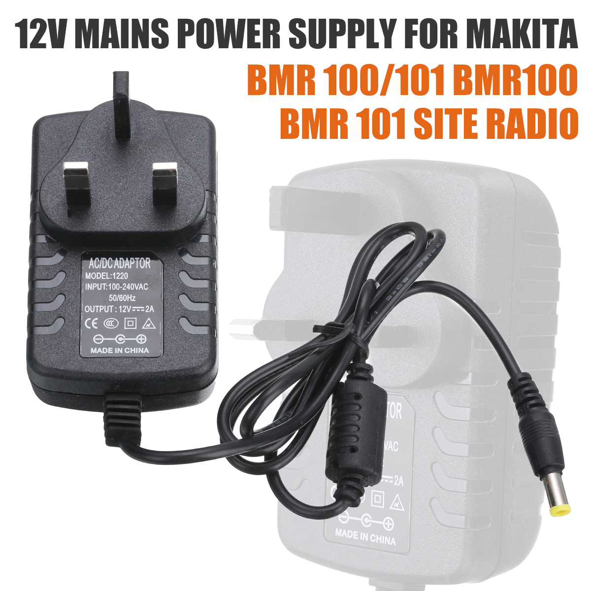 For <font><b>Makita</b></font> BMR 100/101 1pc <font><b>12V</b></font> 2A Power Supply Charger Dedicated Replacement AC <font><b>Adapters</b></font> Mayitr image