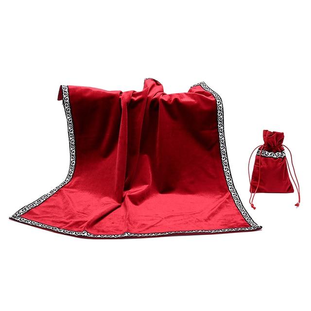 Retro tarot cards bag party table cloth board game tablecloth divination velvet 5