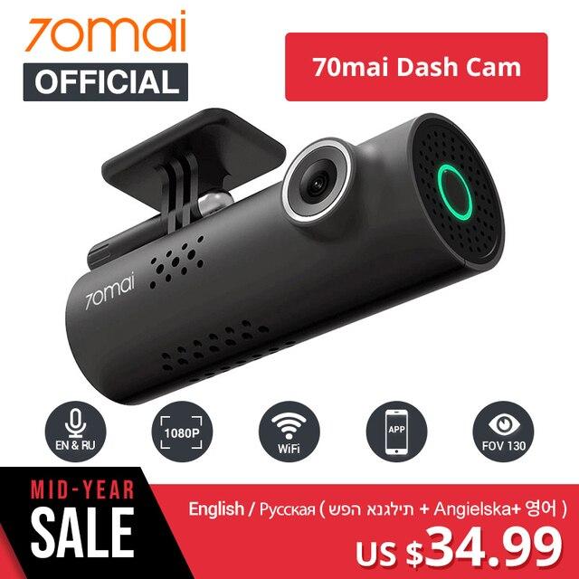 70mai DVR cámara de Control de voz inglés cámara de Control de voz 1080HD visión nocturna Dash Cam Wifi 70 mai Auto grabadora G -sensor