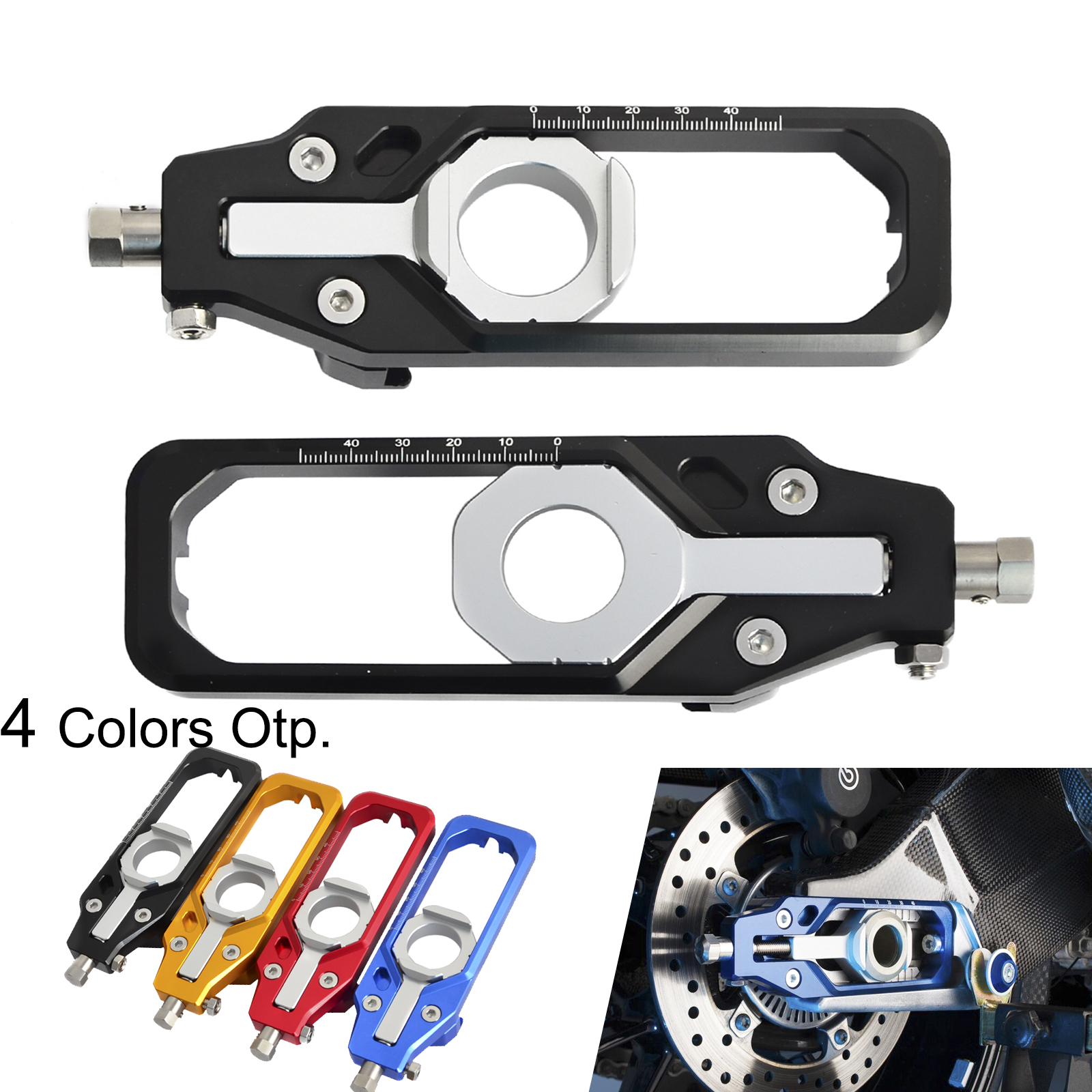 Ajustador Cadeia Tensores NICECNC Motocicleta CNC Eixo Traseiro Para BMW S1000R S1000RR S 1000R HP4 1000RR S 1000 RR 2009 -2017