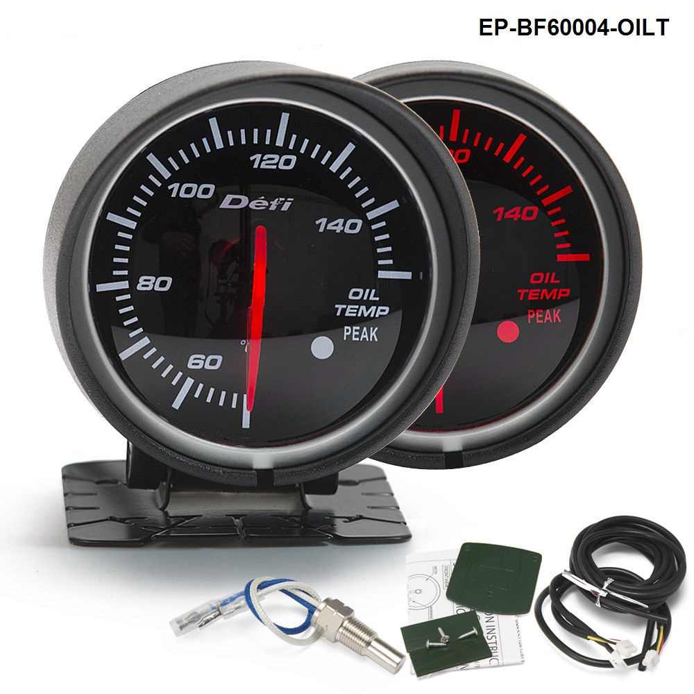 BF 60mm LED Oil Temp Gauge High Quality Auto Car Motor Gauge with Red & White Light For BMW e60 EP-BF60004-OILT