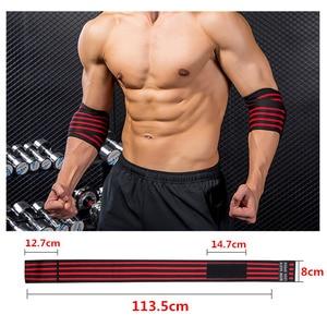 Image 2 - 1 пара, регулируемый бинт для тяжелой атлетики, локоть, эластичные ремешки, защита для поддержки тренажерного зала, фитнеса, тренировки, бодибилдинга