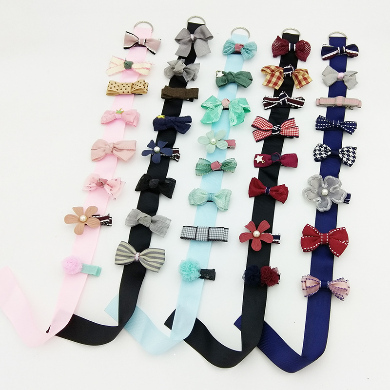 1Pcs/Set New Arrival Hair Clip Bow Flower Hair Bands High Quality Headwear Pearls Headband Lace Ribbon Girls Hair Accessories 1 pcs lot women crystal beads hairband awaytr new black side flower hair band headband for girls 2017 korean style headwear