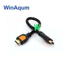 Winaqum hdmi um tipo de cabo hdmi padrão m/m 4 k 3d linha 30 cm cabo curto wa-hd-6033