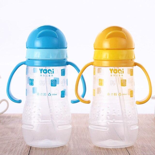 Высокое Качество Горячей Продавать Children Water Cup With Handle Straw Cup Обучение Ребенка Бутылку Младенцы Учатся Drinking Cup