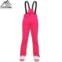 Saenshing лыжные штаны Для женщин зимние брюки Водонепроницаемый ветрозащитные лыжные брюки Для женщин теплая дышащая сноубордические брюки