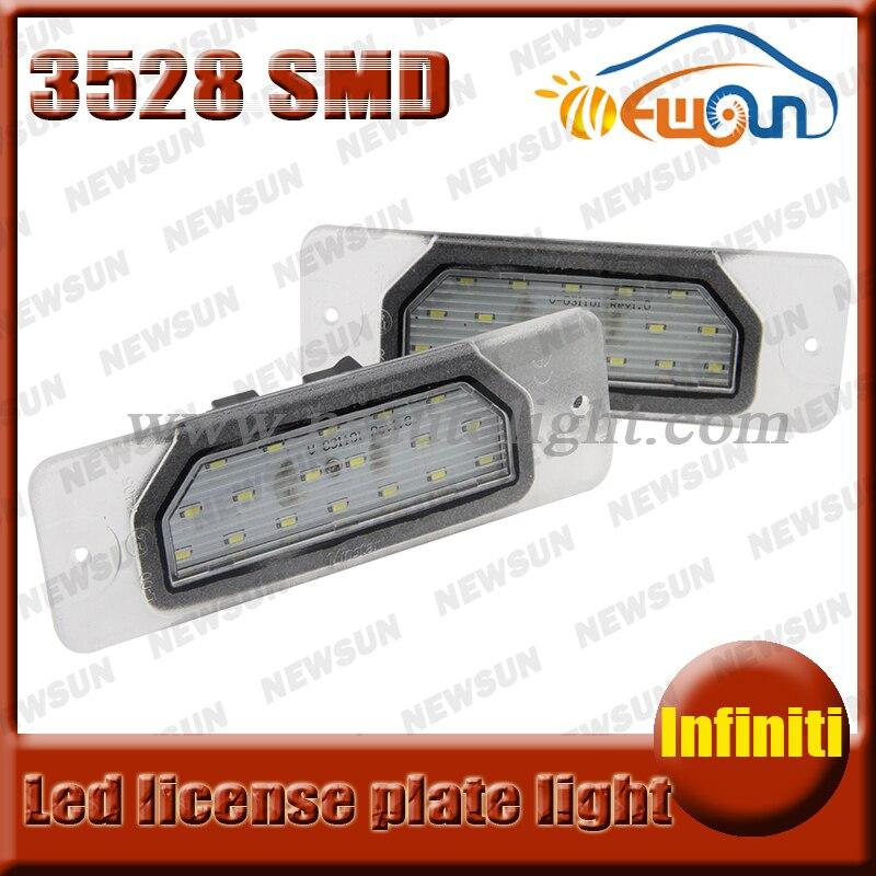 12v 18 SMD canbus LED License Plate Light for Infiniti FX35/45 2003-2008 S50/Q45/130/135/M37/M56