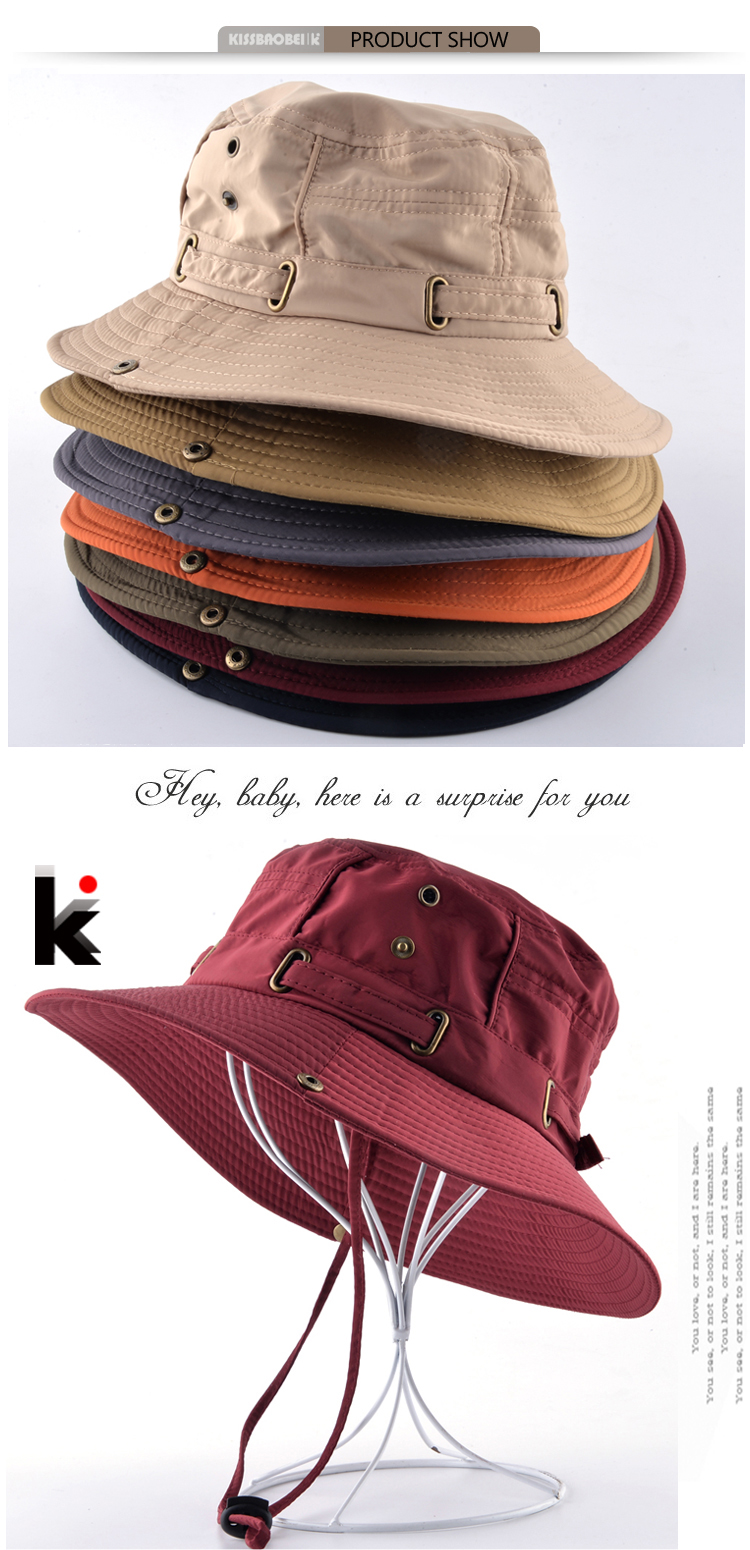 Aliexpress.com  Comprar Sombreros de playa para hombres Bob mujer ... 1c5b6d81013