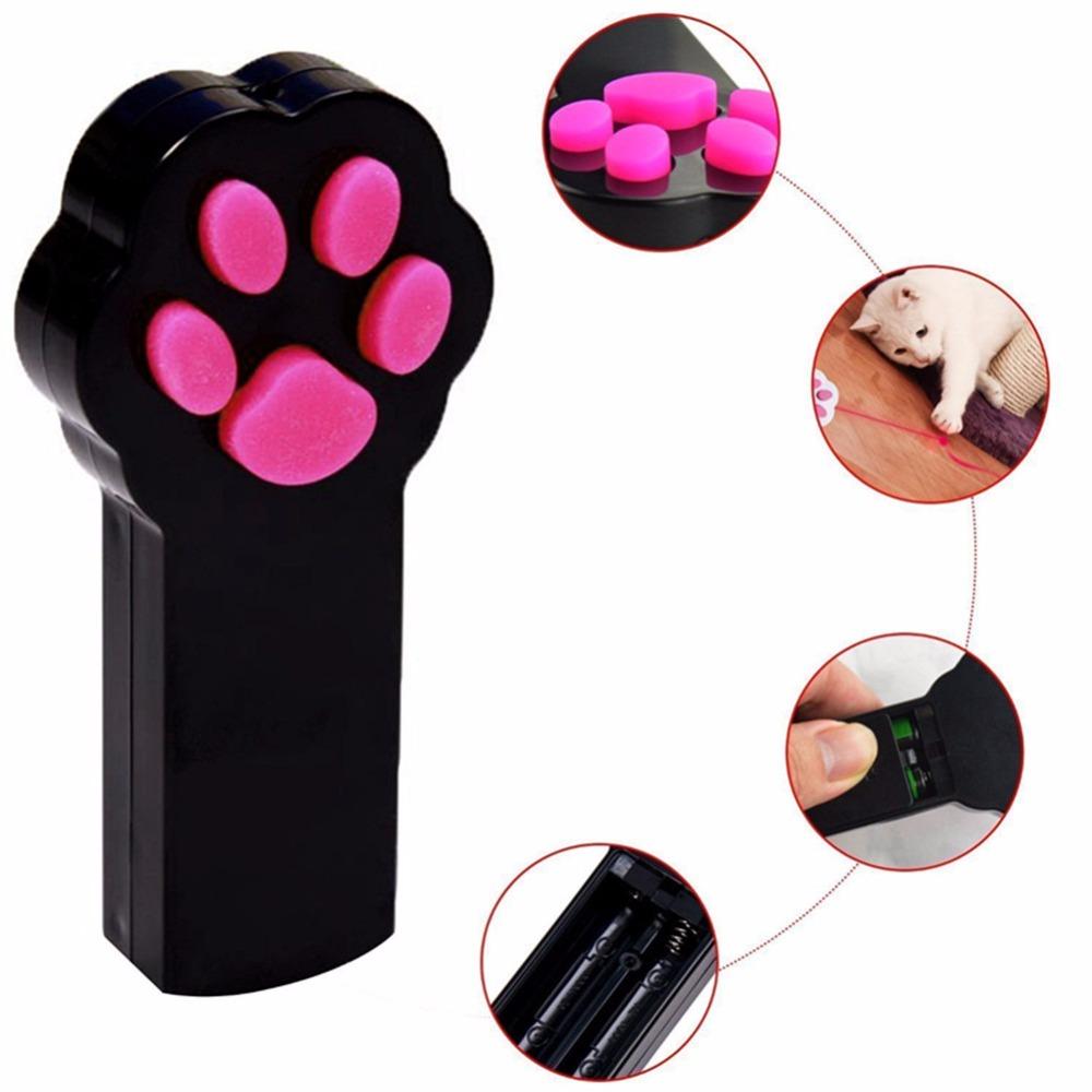 LED Cat Paw Laser Pointer Toy