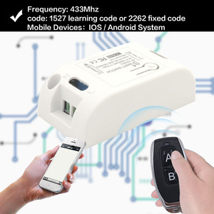 Image 2 - واي فاي لاسلكي التبديل متوافق مع 433Mhz rf التحكم عن بعد التيار المتناوب 220 فولت 10A 1CH الذكية التحكم عن بعد لتقوم بها بنفسك الموقت ل IOS أندرويد