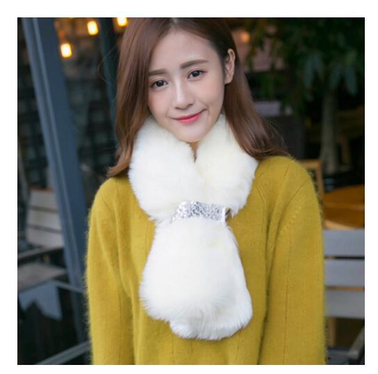 Female Korean winter warm scarf pure imitation fur shawl fur collar