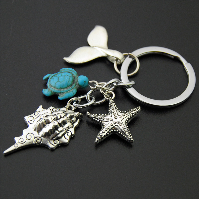 Star fish five asteroid with small charm pendant crystal