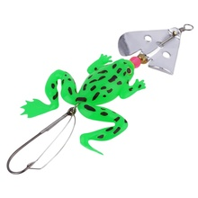 1pc new Rubber Frog Soft Fishing Lures Bass CrankBait Tackle 9cm/3.54″ free shipping