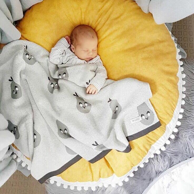 Монохромная Крестовая подушка для пола для младенец и малыш/Детские шапочки/детский игровой коврик - Цвет: Цвет: желтый