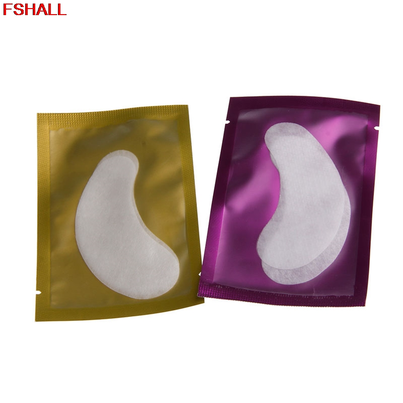 50 Pairs Under Eye Curve Eyelash Pad Gel Patch Lash Extension Beauty Tools #H027# 100 pairs eyelash extension sticker pads
