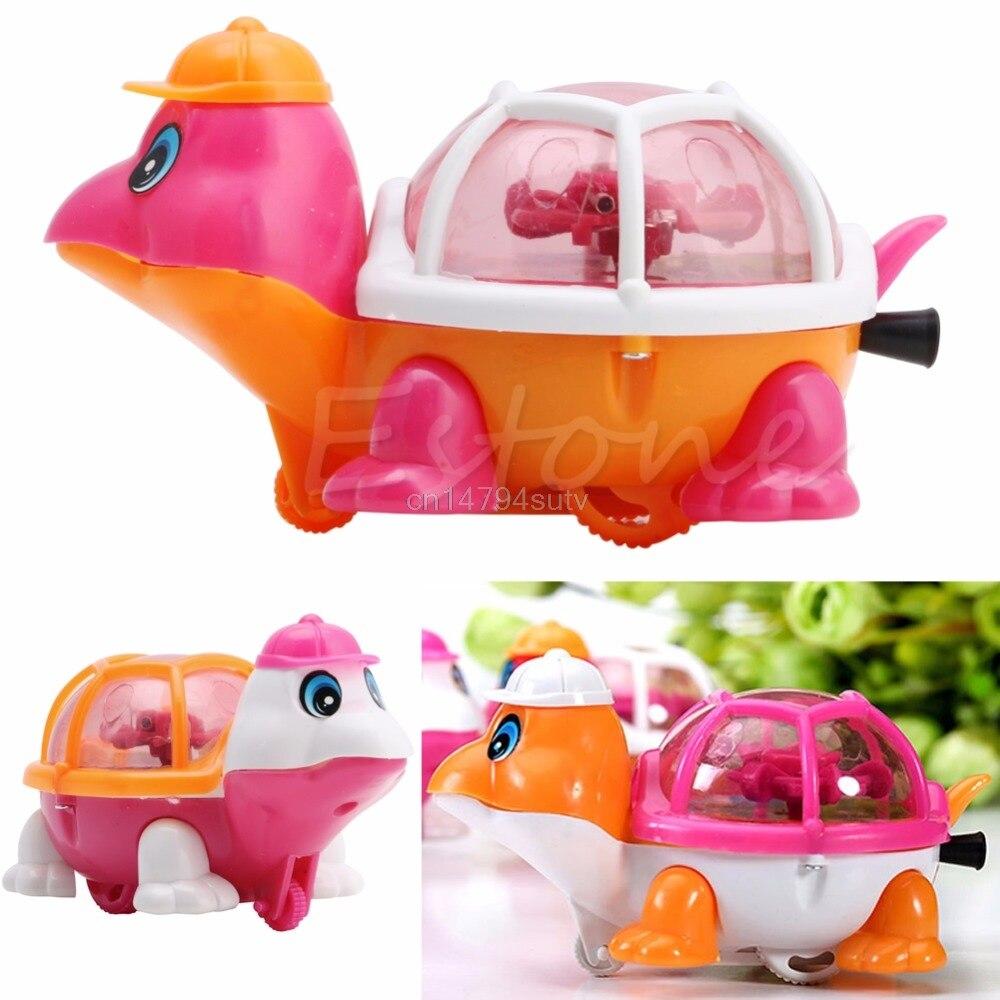 1pc new lovely infant baby educational pull emitting little turtle light kid toy h055