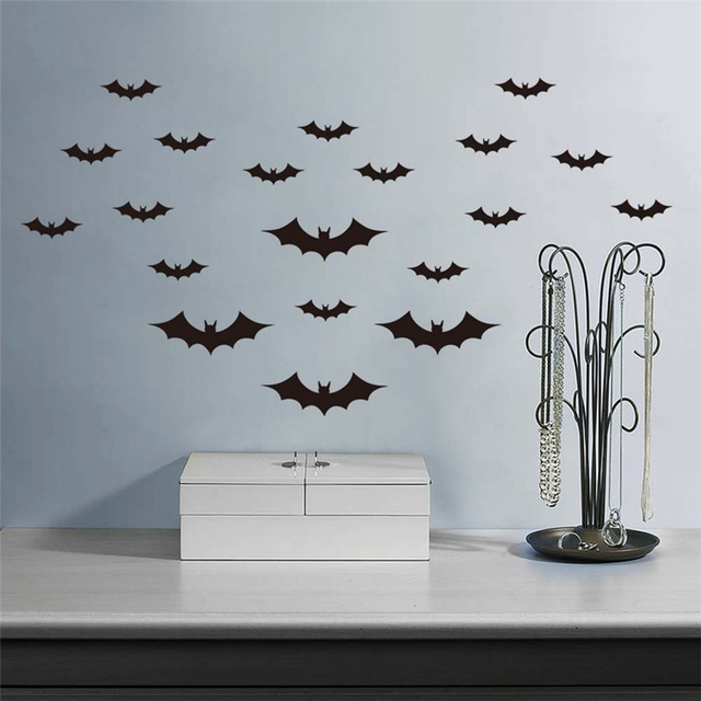 Lovely Pets 1pc Waterproof Diy Pvc Bat Wall Sticker Decal Home Decoration Drop Shipping 70724