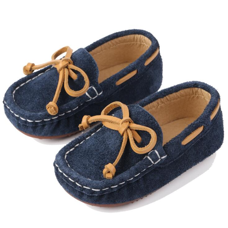 Spring Autumn Kids Shoes Boys Genuine Leather Loafers Shoes Girls Flat Moccasins Children Soft Comfortable Shoes