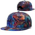 Alisister New Arrival 2017 Fashion women/men Snapback Hats Printed Flowers Dragons Street Caps Summer 3d Caps Hiphop Gorras