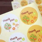 120pcs 2 Colors Thank You Gift Sticker Round Adhesive Label