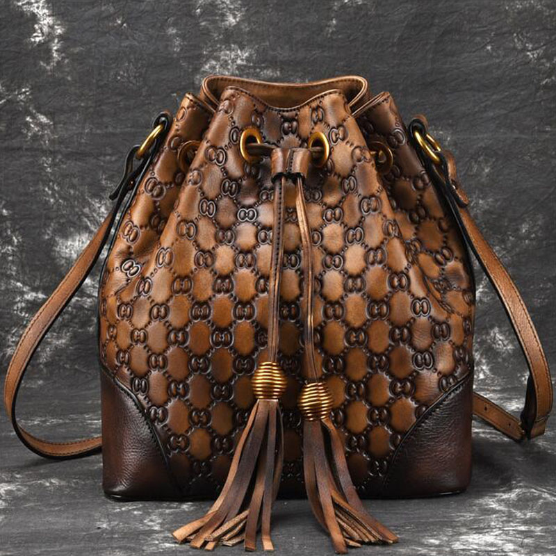 New Retro Real Leather Ladies Cross Body Bag for Women casual fashion Classic Totes Messenger Bags