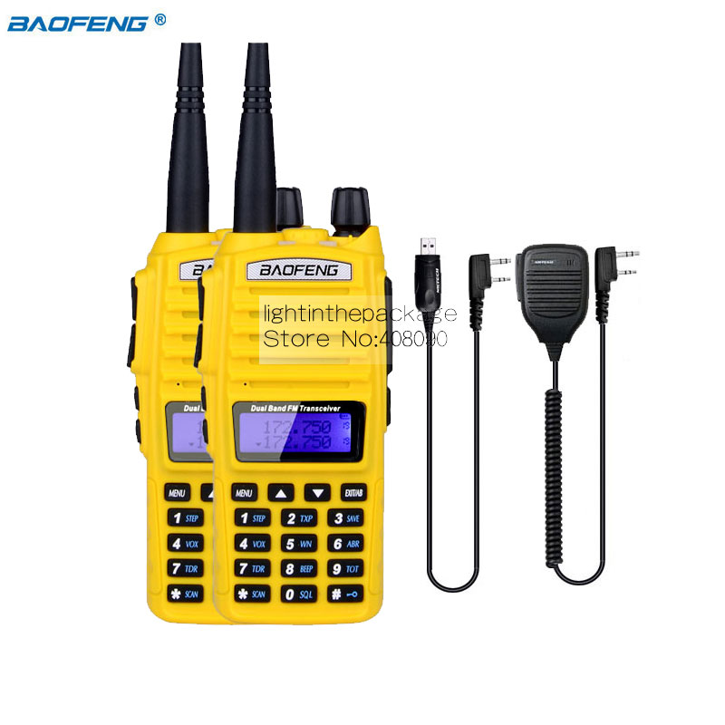 2 Pack BAOFENG UV 82 Dual Band VHF UHF 136 174 400 520MHz Two Way Radio