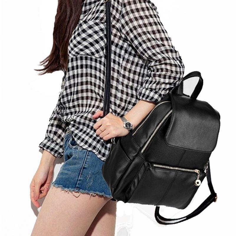 Backpack Women Pu Leather Female Backpacks Teenager School Bags Mochila Feminina Rucksack Mochilas Mujer 2018 #5