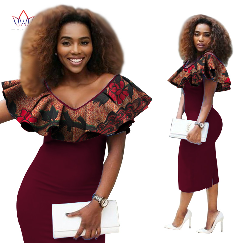 17 D'automne 10 12 1 Ruches Tissus Wy2357 11 15 4 Pour Robe 6 Africaine Brw 18 Robes African 5 8 16 Dentelleamp; 2019 7 19 Femmes Couture Vêtements nk8wP0O
