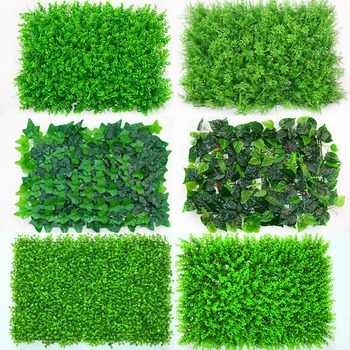 1pc 40*60cm Artificial Grasses Plants Wall Fake Lawn Faux Creepers Leaf Grass Blossom Artificial Foliage for Home Garden Decor partes del cable coaxial