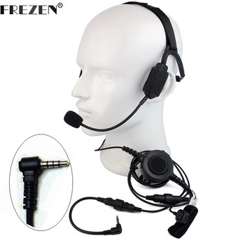 Walkie talkie Military Bone Conduction Tactical Headset boom mic For Vertex Yaesu Radio VX-3R VX-5R 210 FT-50 FT-60R VX-10 110 image