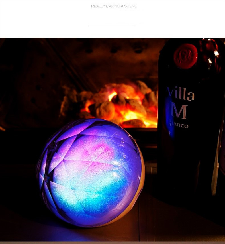 Portable Bluetooth speaker Portable Wireless Loudspeaker LED Light Crystal Ball Bluetooth Speaker Night Light USB MP3 Player11