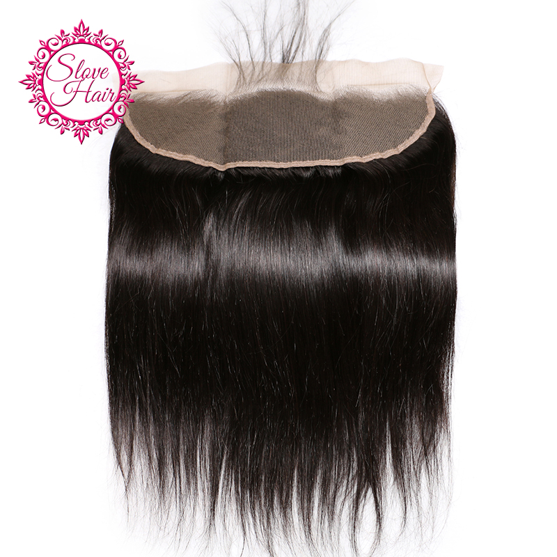 13x4 Lace Frontal Closure Straight Brazilian Remy Hair Ear To Ear Bleached Knots With Baby Hair