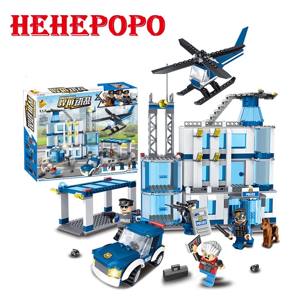 468pcs. Big Size Police Series Of Intelligence Building Blocks Boys' Best Gift DIY New Police Station Assembled Funny Bricks Toy police pl 12921jsb 02m