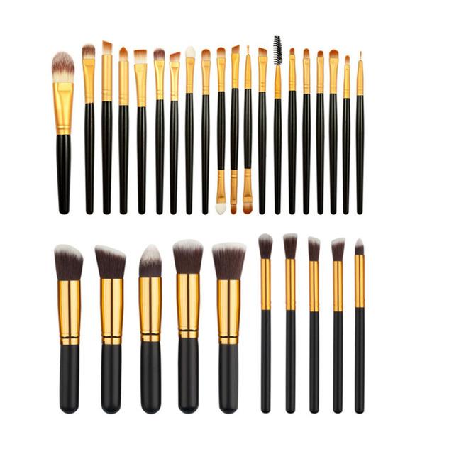 30 unids/set Profesional sistema de Cepillo Del Maquillaje Fundación Rubor Polvos Sombra de Ojos Delineador de ojos Delineador de Pestañas Maquillaje Pinceles Herramientas
