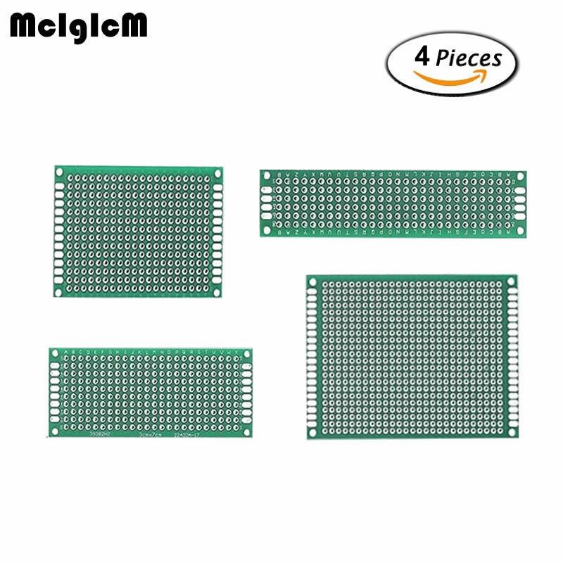Capable 86040 4pcs 5x7 4x6 3x7 2x8 Cm Double Side Copper Prototype Pcb Universal Board Electronic Diy Kit Pcb Reasonable Price