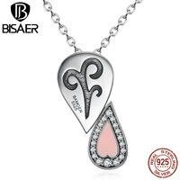 جودة عالية 925 فضة الوردي القلب قلادة 1 الاسلوب مع 6 أنواع يرتدي الأزياء قلادة للنساء diy ECN053