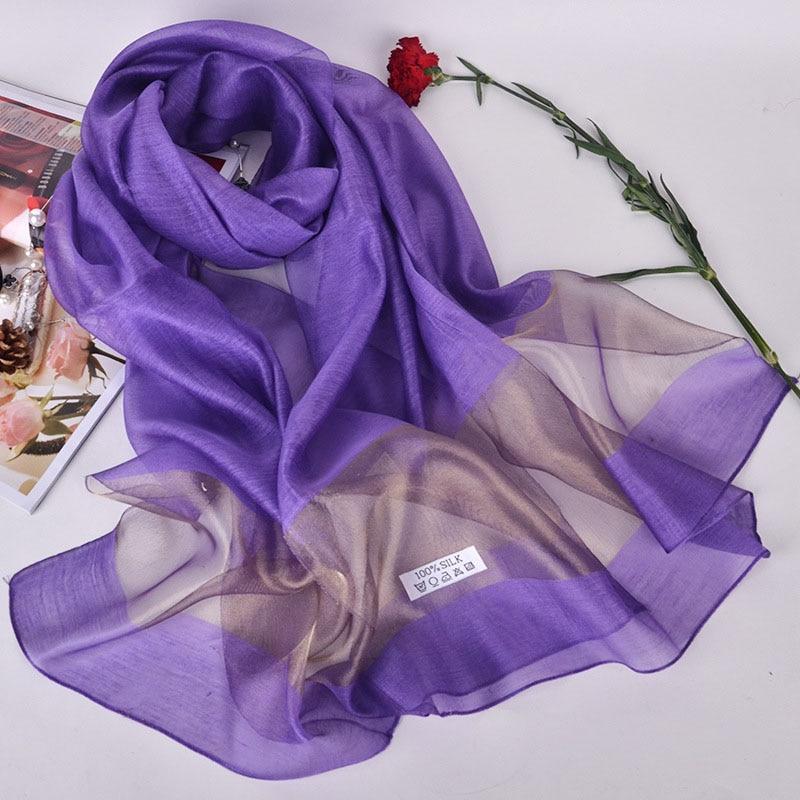 Luxury Brand Silk Scarf Shawl Women Elegant bandana Autumn Winter Dress Wrap for Ladies Plus Size Pashmina Plus Size 200*70CM