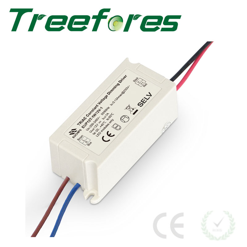 12W 12V Triac Dimmable LED Driver DC 12V Power Supply Dimming Transformer CE RoHS Touch Pannel Trail Edge 110V 220V Dimmer kvp 24200 td 24v 200w triac dimmable constant voltage led driver ac90 130v ac170 265v input