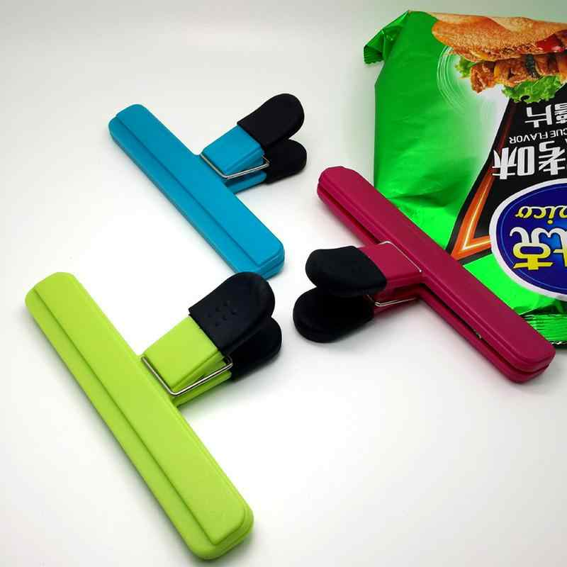 Plastic Food Sealing Bag Clip Food Fresh Keeping Moisture-proof Close Clip Letter Paper Photo File Binder Clip Kitchen Tools