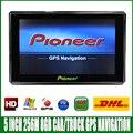 Frete grátis DHL 5 polegada HD MTK CE 6.0 GPS Do Carro Navegação FM/8 GB/DDR 256 M Mapas mais recentes Para A Rússia/Europa/EUA veículo Navegador