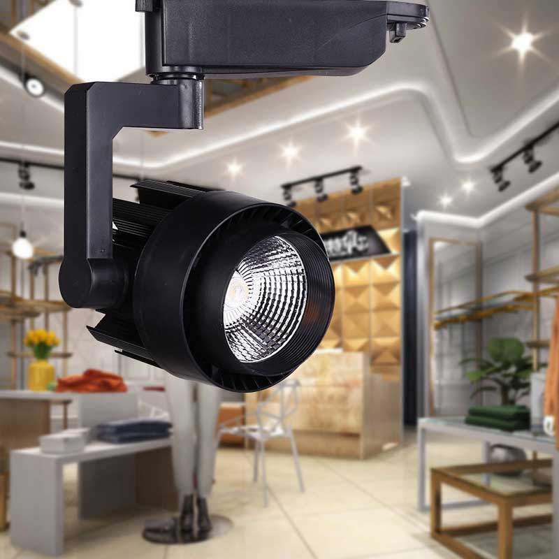 LED Track Light 15W 30W COB Ceiling Rail Lamp Lights For Pendant Kitchen  Clothes Shop Equal