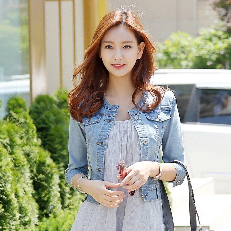 Online Get Cheap Cropped Denim Jackets for Women -Aliexpress.com