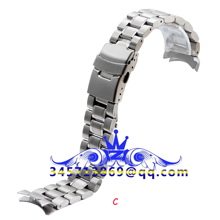 18 20 22 24mm hõbe must, kõver suu ja sirge suu, roostevabast - Kellade tarvikud - Foto 3