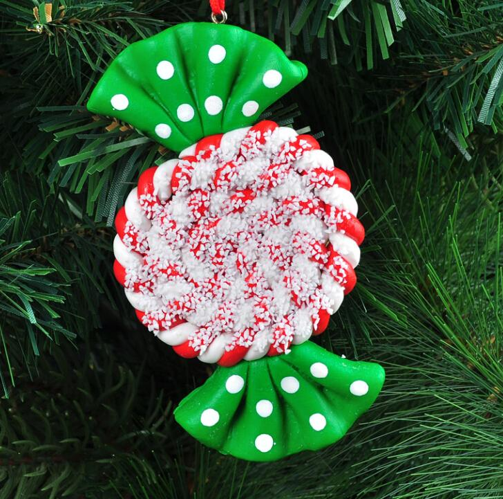 christmas decoration natal navidad craft supplies candy christmas tree ornaments 10x6cm shape high grade polymer clay - Candy Ornaments For Christmas Tree
