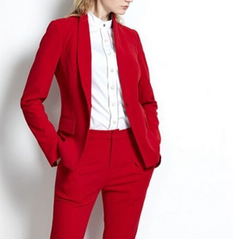 Womens Suits Wedding Suits for Women Womens New Suit 2 Suits Work Wear Formal Blazer Set Business Office Coat & Trousers